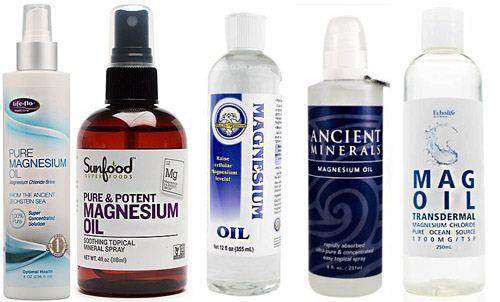 Магниевое масло разных производителей
