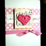 Открытка-валентинка с сердечками