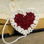 Закладка сердечко