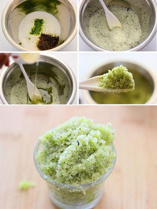 скраб с зеленым чаем