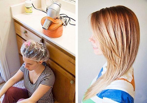 Кокосовое масло для осветленных волос