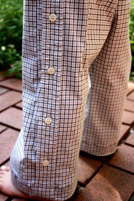 штаны из рукавов рубашки