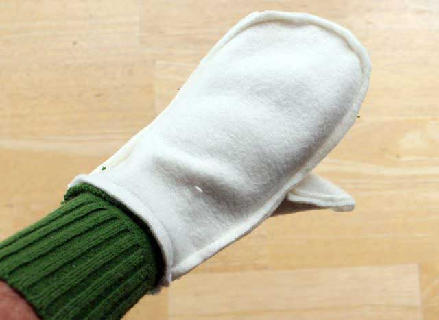 варежки из свитера