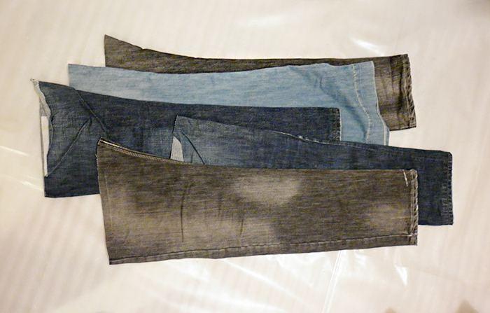 штанины джинсов
