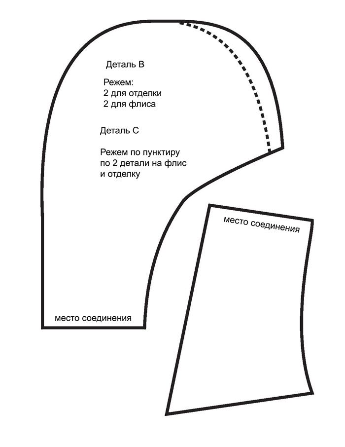 Выкройка домашних тапочек
