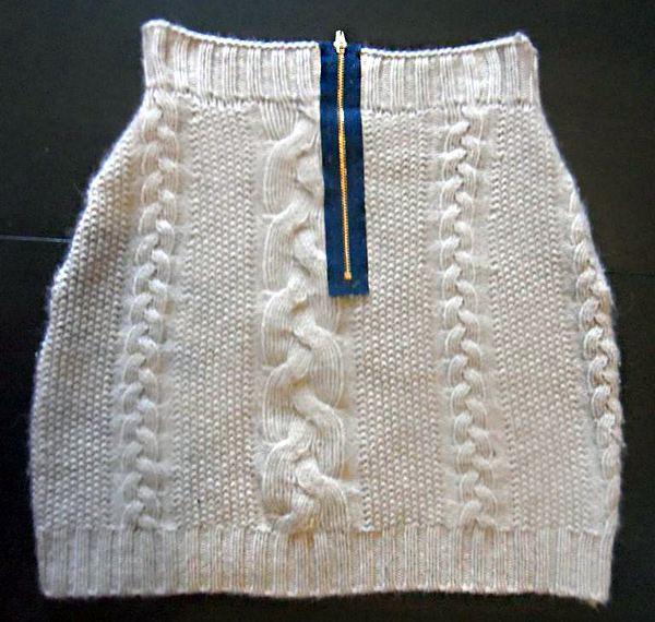 Перешить свитер в юбку