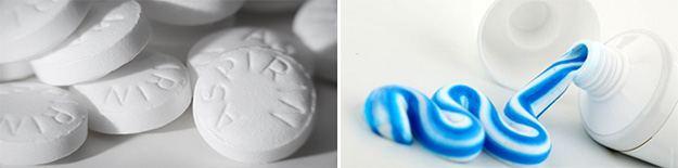 Отбелить колени аспирином
