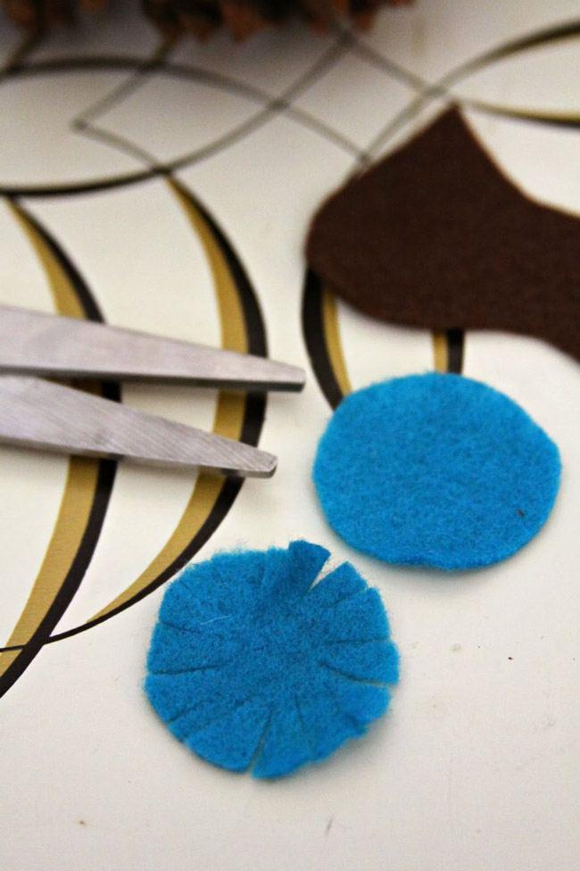kГлазки для совы из природных материалов