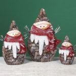 снеговик из шишек