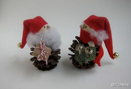 Санта из природного материала