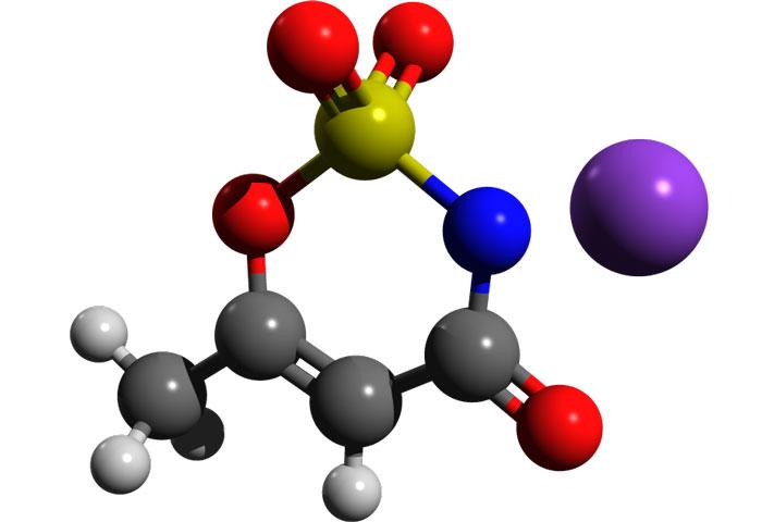 3d молекула ацесульфама калия
