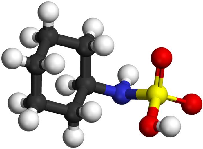 3D модель молекулы цикламата