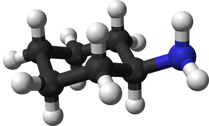 3D модель циклогексиламина