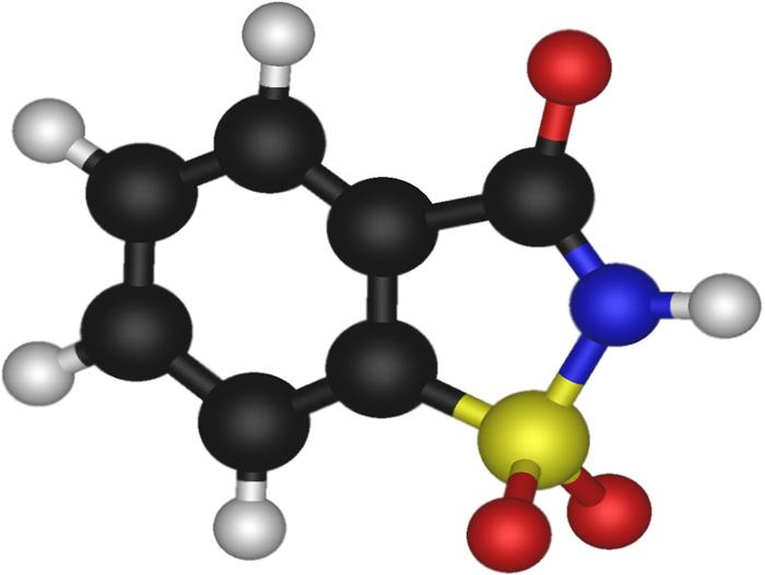 Молекулярная 3D модель сахарина натрия