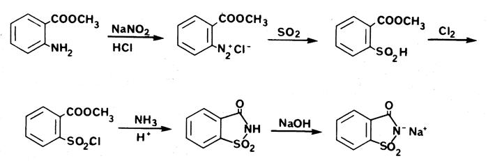 Получение сахарина формула