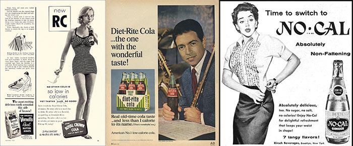Диетические напитки 50-х годов с цикламатом и сахарином