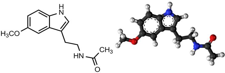 Молекула мелатонина