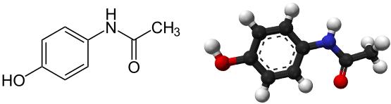 Ацетаминофен формула